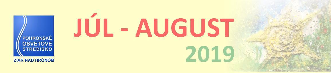 Mesačný plán júl - august 2019