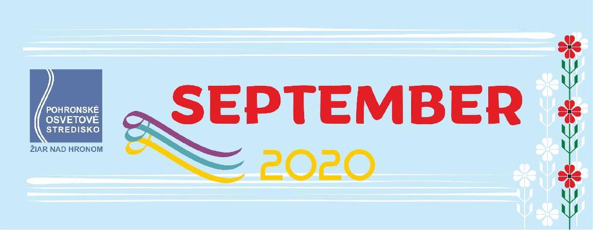 Mesačný plán september 2020