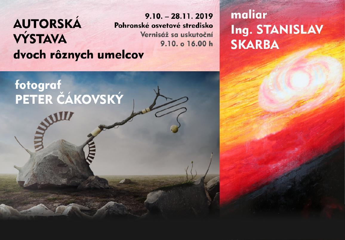 Autorská výstava Petra Čákovského a  Stanislava Skarbu